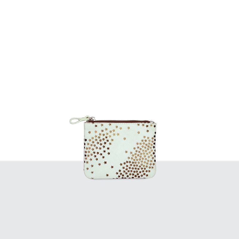 Tiny Star White Credit Card Pouch