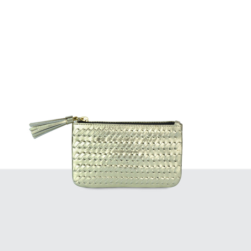 Golden Weave Medium Pouch