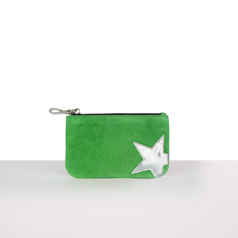 Green Big Star Pouch