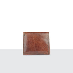Mens Tan Leather Large Fold Wallet
