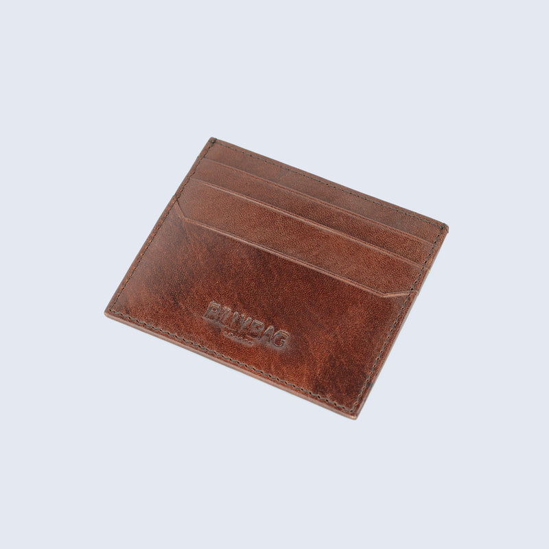 Mens Tan Leather Credit Card Sleeve