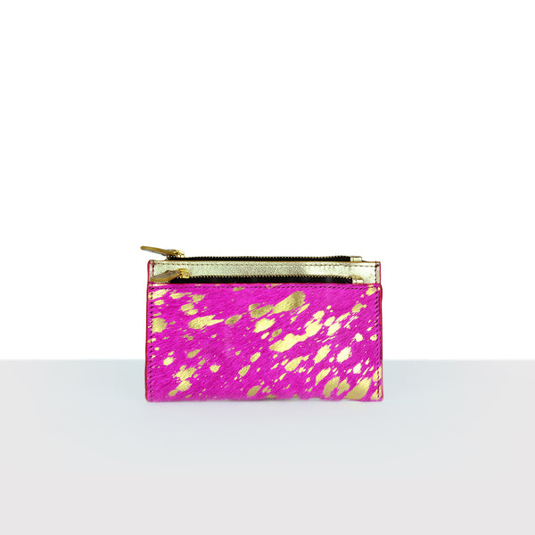 Hair On Hot Pink Gold Purse