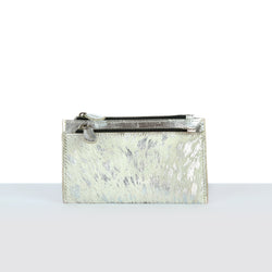 Hair On Silver Off White Purse