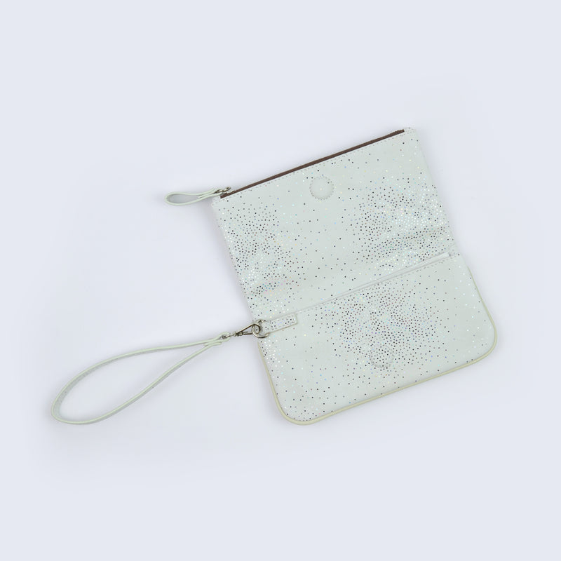 White Sparkle Wrist Purse