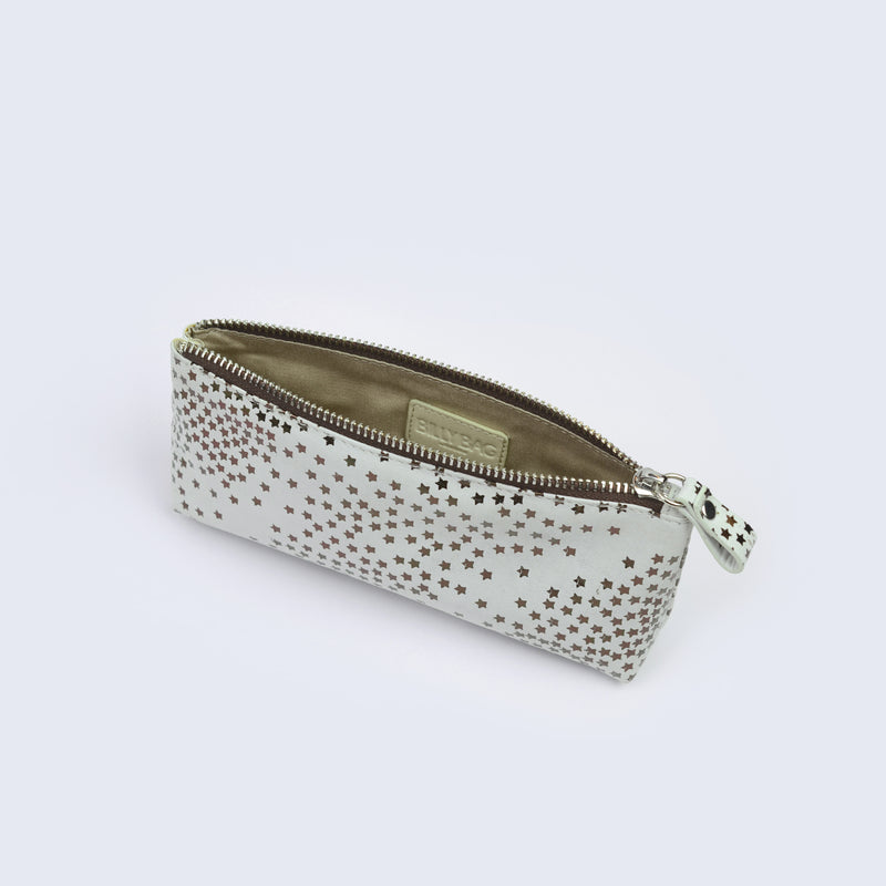 Tiny Star White Make Up Pouch