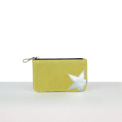 Lemon Suede Big Star Pouch
