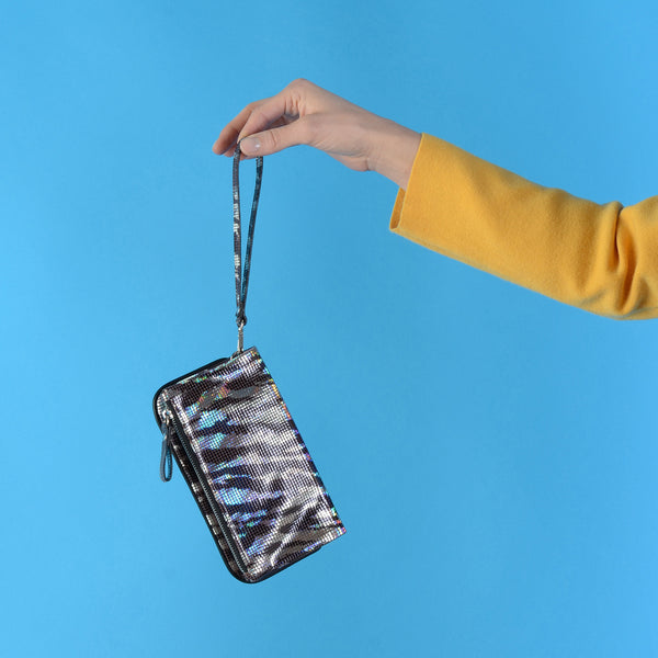 Zebra Disco Wrist Purse