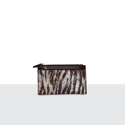 Zebra Disco Double Zip Purse
