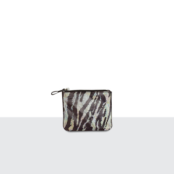 Zebra Disco Credit Card Pouch