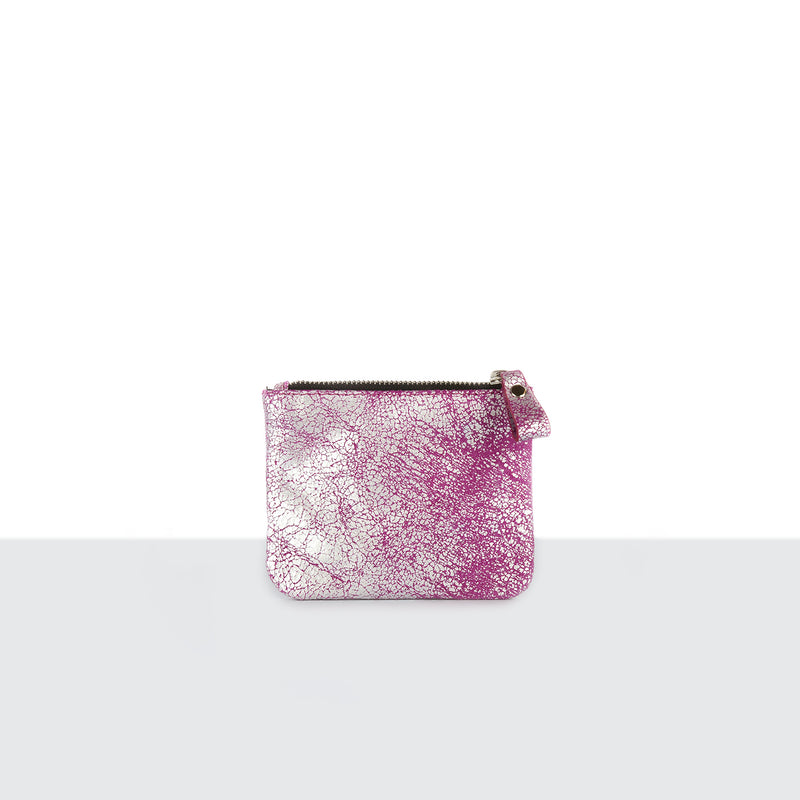 Silver Mist Pink Credit Card Pouch