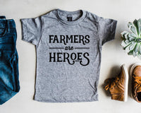 farmers are heroes {kids tee}