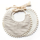 reversible bib {natural dot}