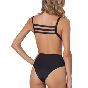 Angela Solids Black One Piece