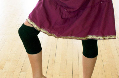 Black Thin Dance Knee Pads