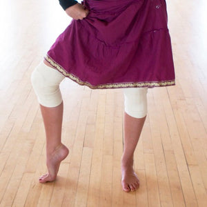natural white kneepads for dance, dancer knee pads