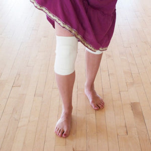 white knee pad, natural kneepads dance, dancers