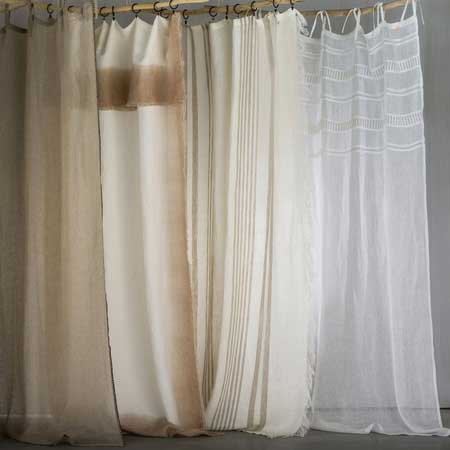 coastal curtains in rustic linen from La Redoute