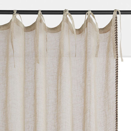 linen effect tie top curtains for seaside interiors