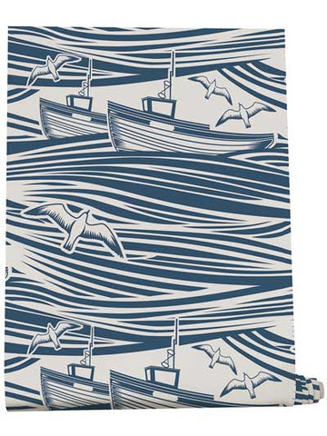 whitby nautical wallpaper with sea boats coast