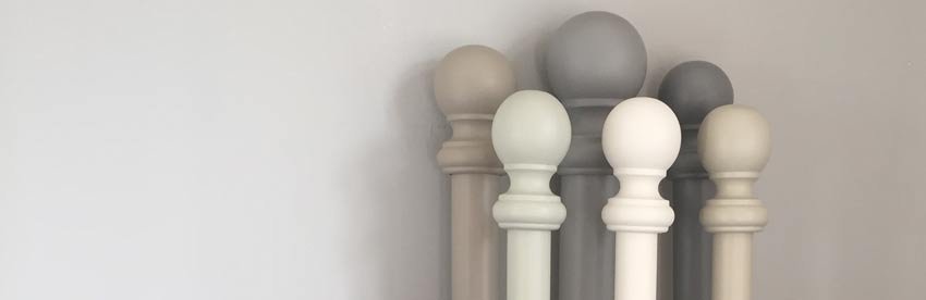 painted wooden curtain poles