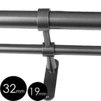 32mm 19mm double standard end bracket