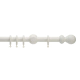 honister linen white painted wooden curtain pole