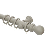 50mm painted café latte wooden curtain pole