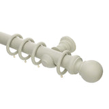 50mm painted french grey wooden curtain pole