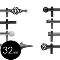 32mm wrought iron finials for Cameron Fuller curtain poles