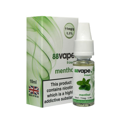 Menthol E-Liquid by 88 Vape - 10ml