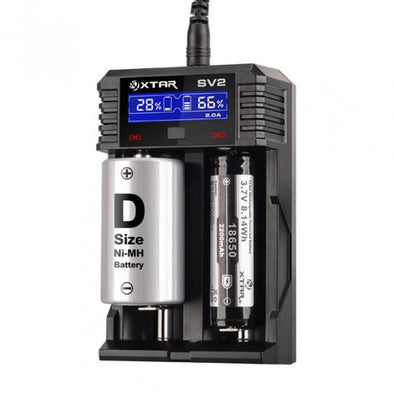 XTAR SV2 ROCKET Ultra Fast Li-ion/IMR/Ni-MH Battery Charger (0.25A/0.5A/1A/2A)