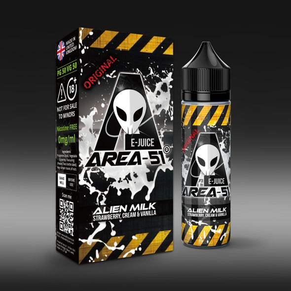 Alien Milk by Area-51 E-Juice - 50ml Short Fill E-Liquid