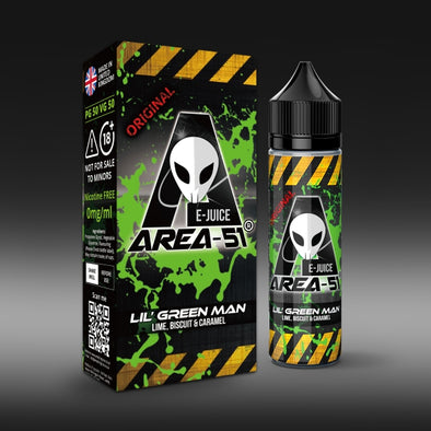 Lil Green Man by Area-51 E-Juice - 50ml Short Fill E-Liquid