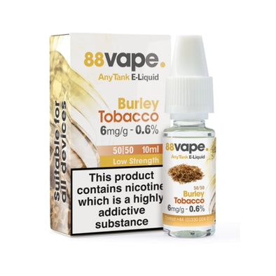 Burley Tobacco 50/50 by 88 Vape
