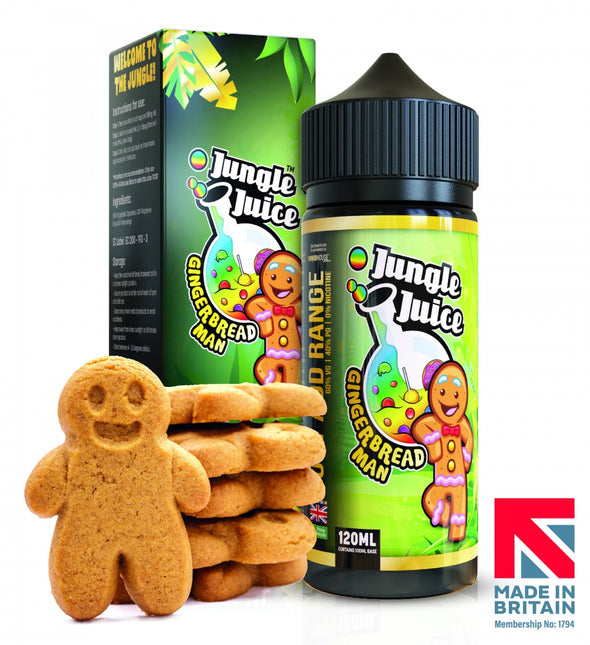 Gingerbread Man by Jungle Juice 100ml Short Fill E-Liquid