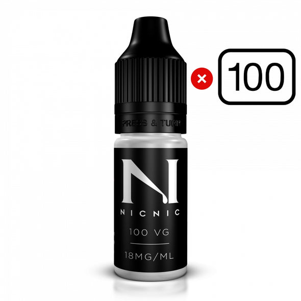 100 x Nic Shots Bundle 18mg 100VG or 70VG/30PG by NicNic - Flavourless
