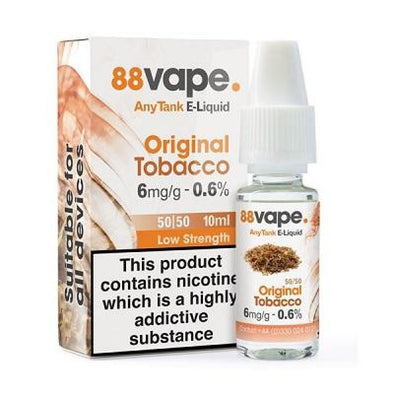 Original Tobacco 12mg 16mg 50/50 by 88 Vape
