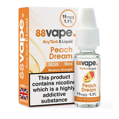 Peach Dream 11mg 50/50 by 88 Vape