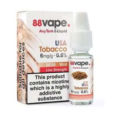 USA Tobacco 6mg 11mg E-Liquid by 88 Vape - 10ml