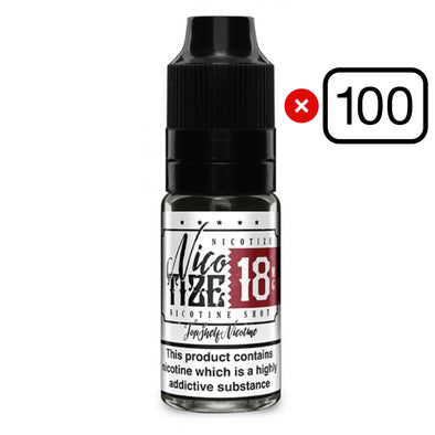 100 x Nicotize 18mg Nic Shots Bundle by Zeus Juice