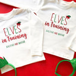 Elves in Training Twin Christmas Long Sleeved TShirts
