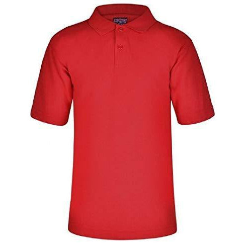 Age 2-15 School Plain Polo Shirt Short Sleeve 15 Colours Childrens Boys Polo Shirt Girls Polo Shirt School Uniform P.E. Listers Schoolwear 3 Years Red