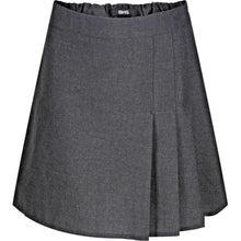 Load image into Gallery viewer, Ages 4-13 Girls School Skirt Adjustable Waist Black Grey Pleated