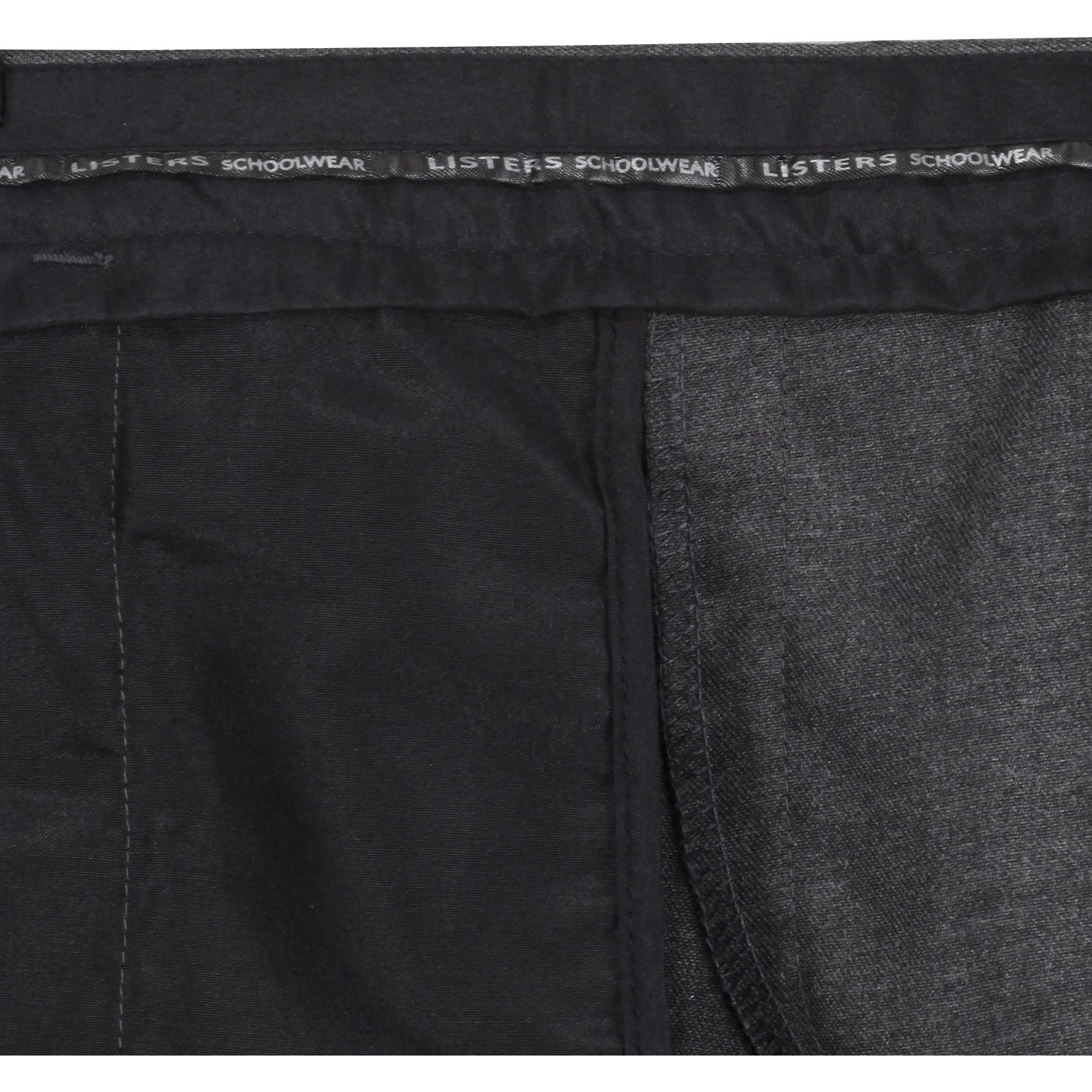 Boys Pull Up School Trousers Elasticated Black Grey Navy Age 2 3 4 5 6 7 8 9 10 11 12 13