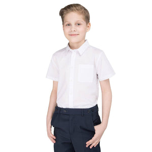Boys School Shirt Short Sleeve Non Iron Easy Care Ages 2-16 Regular Fit