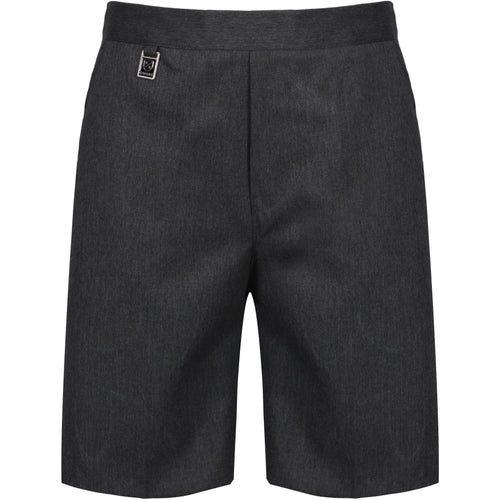 Boys Zip Up School Shorts Elasticated Black Grey Navy Age 2 3 4 5 6 7 8 9 10 11 12 13 14 15 16
