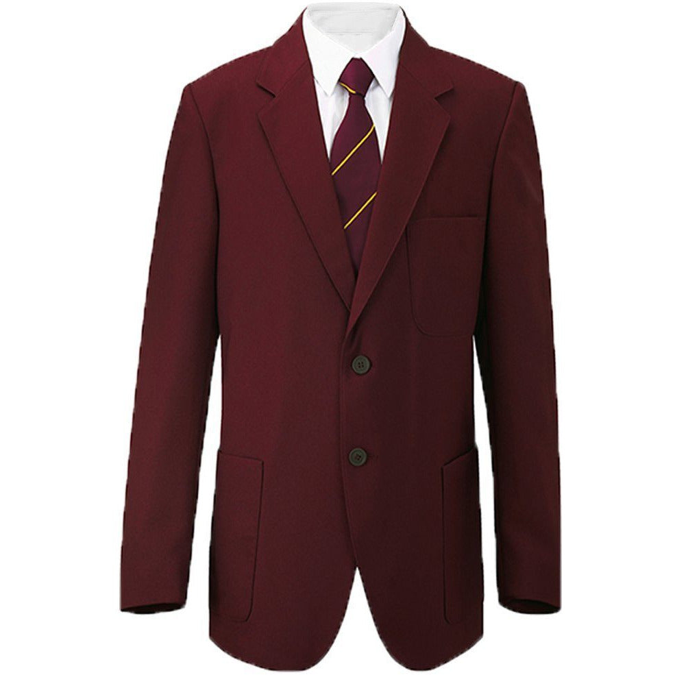 "Boys/Mens School/Formal Blazer Jacket Uniform Black Royal Blue Navy Bottle Green Burgundy/Maroon (Chest Sizes 24""-52"")"