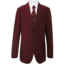 "Load image into Gallery viewer, Boys/Mens School/Formal Blazer Jacket Uniform Black Royal Blue Navy Bottle Green Burgundy/Maroon (Chest Sizes 24""-52"")"