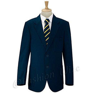 Boys/Mens School/Formal Blazer Jacket Uniform Black Royal Blue Navy Bottle Green Burgundy/Maroon (Chest Sizes 24