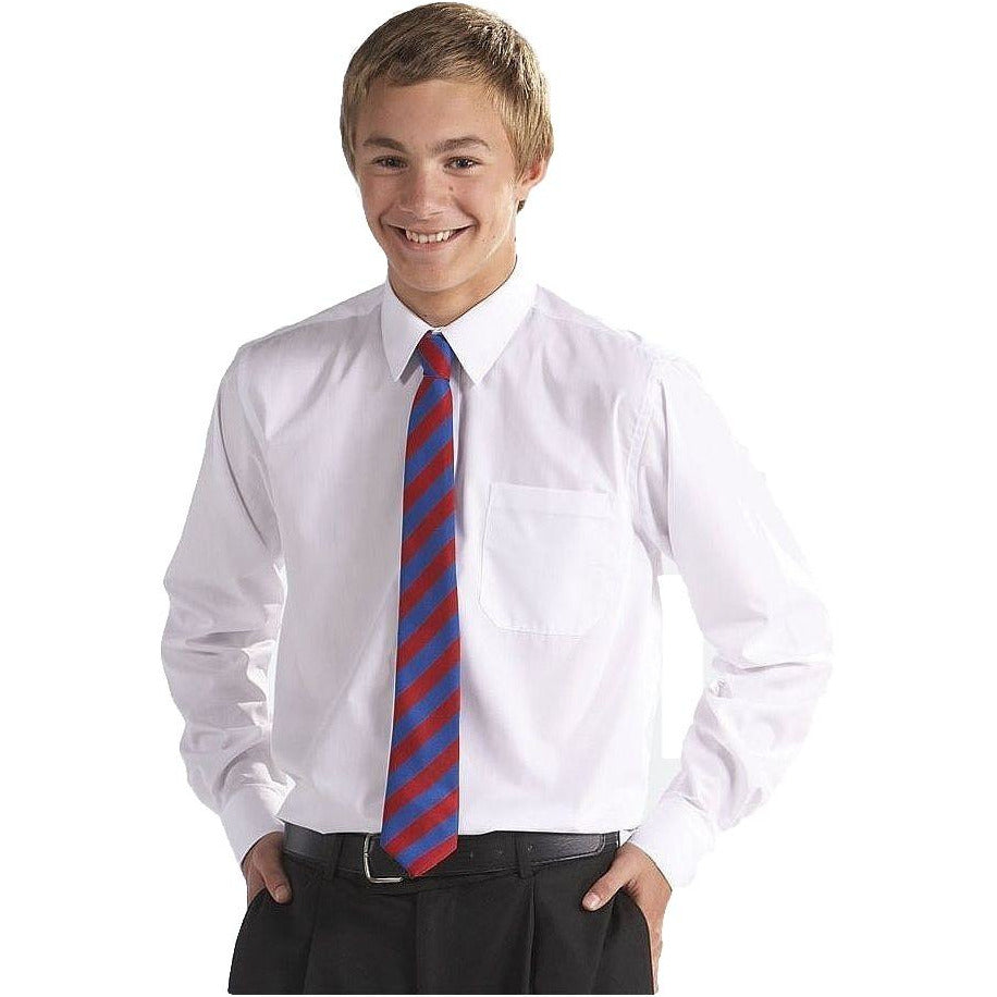 Generous Fit TWINPACK Boys School Shirt Long Sleeve Non Iron Easy Care Ages 2-16